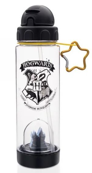 Garrafa com Canudo e Domo Hogwarts: Harry Potter (500ml)