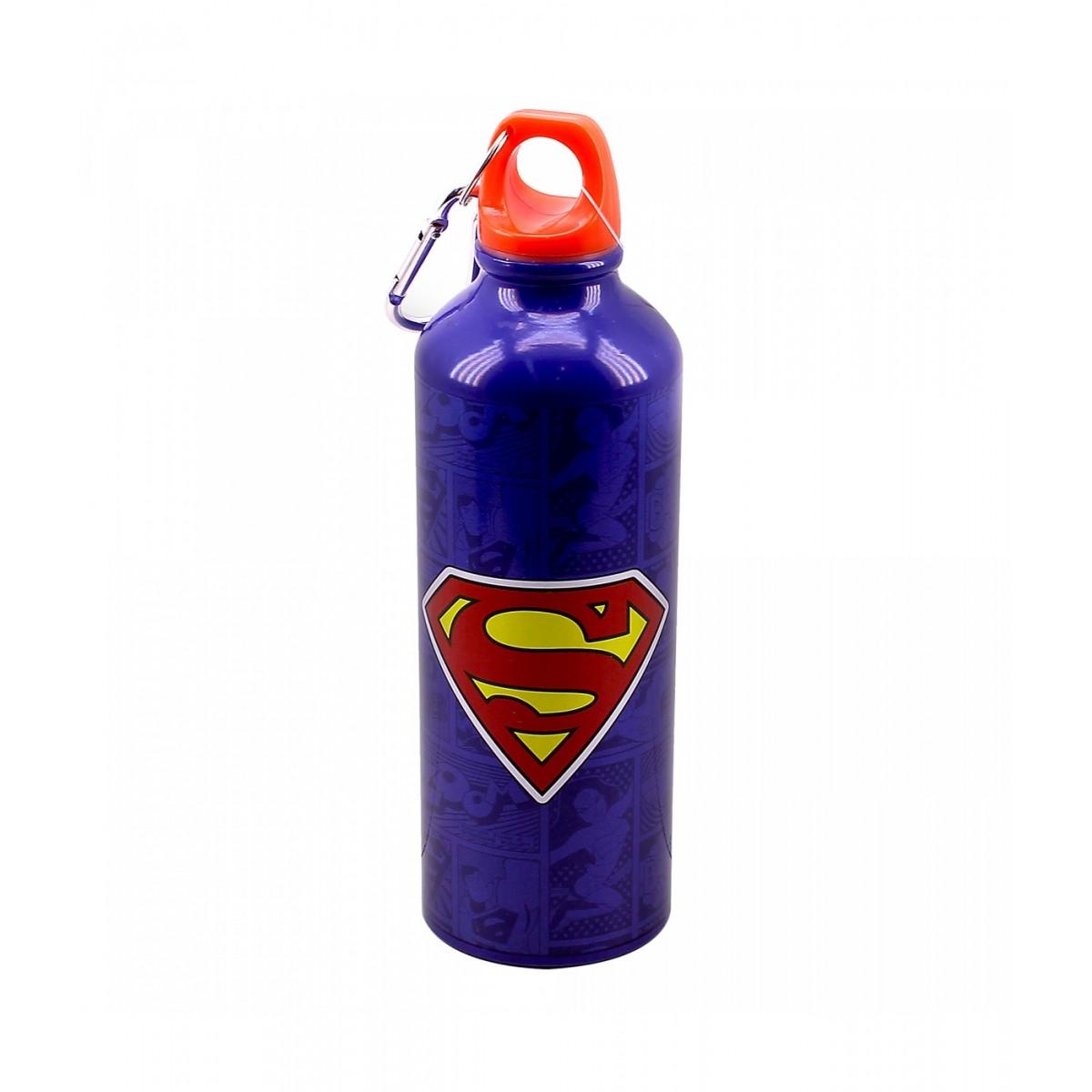Garrafa com Prendedor Super Homem - Superman: Quadrinhos Liga da Justiça