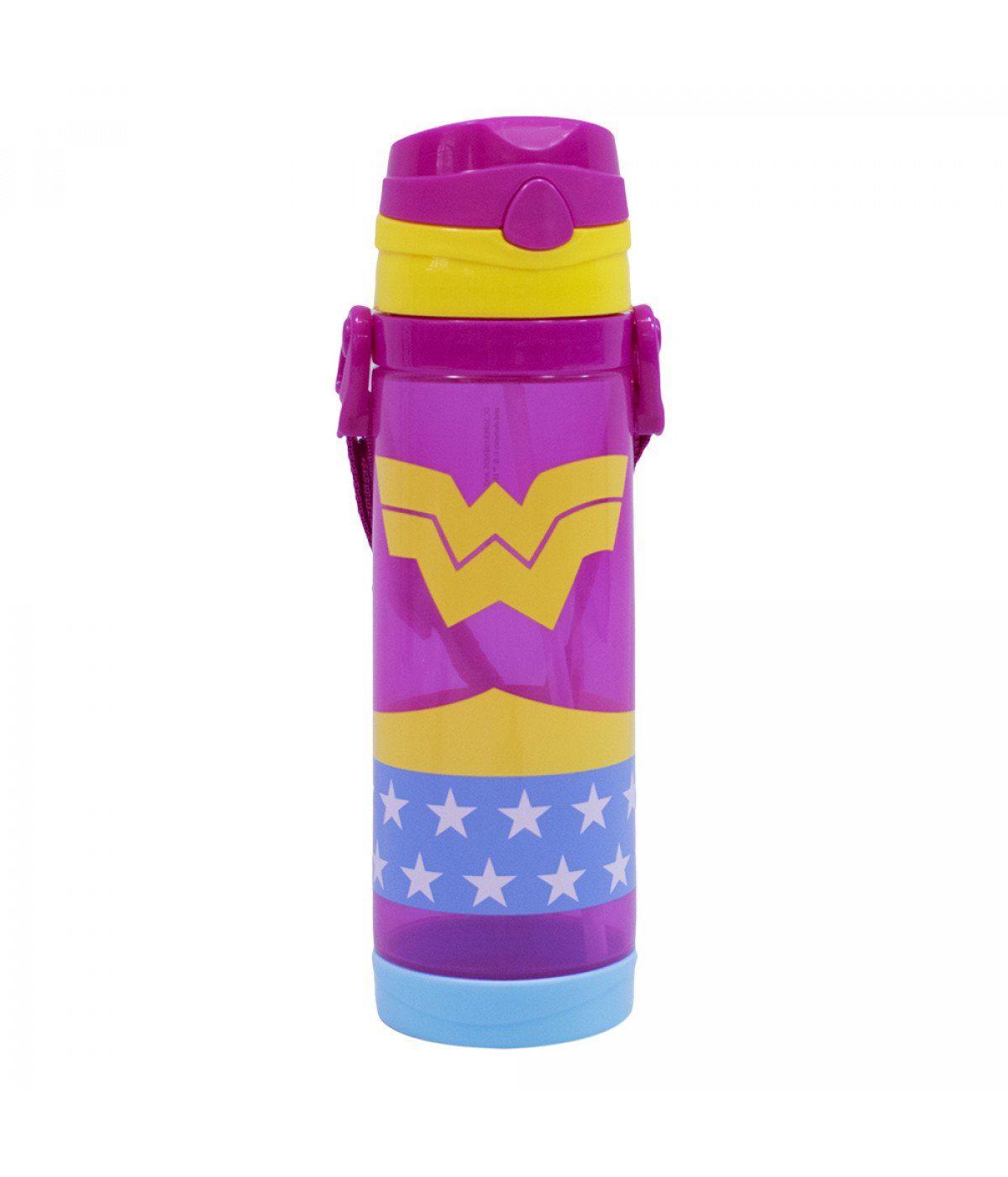 Garrafa de Plástico Mulher Maravilha: DC Super Friends