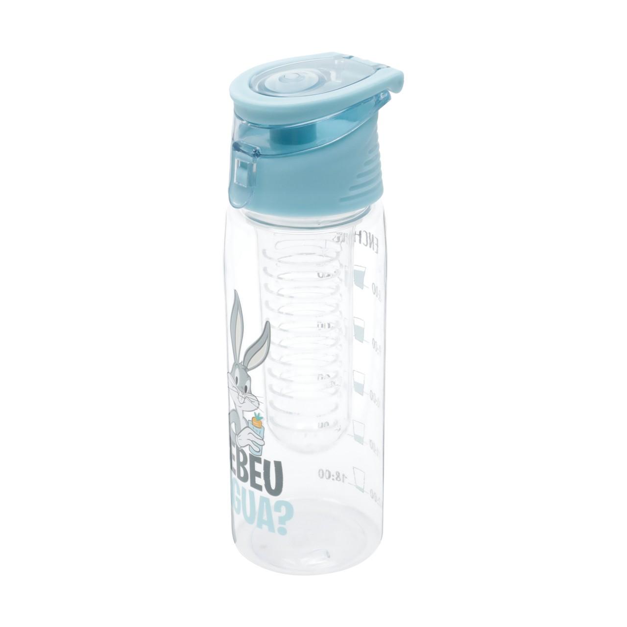 "Garrafa Infusor Plástico ""Bebeu Água"" Pernalonga (600ml) - Urban"