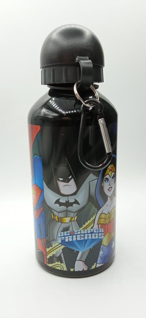 """Garrafa (Squeeze) Alumínio DC Super Friends (Super Amigos) """"Personagens"""": DC Comics 500ml"""