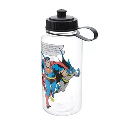 Garrafa (Squeeze) Batman, Superman e Flash: Liga da Justiça (Justice League)  - 1L