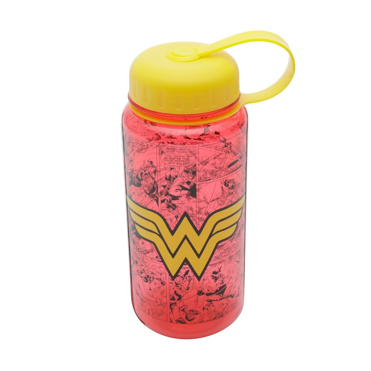 Garrafa (Squeeze) Quadrinhos Mulher-Maravilha (Wonder Woman) DC Comics (600ml)