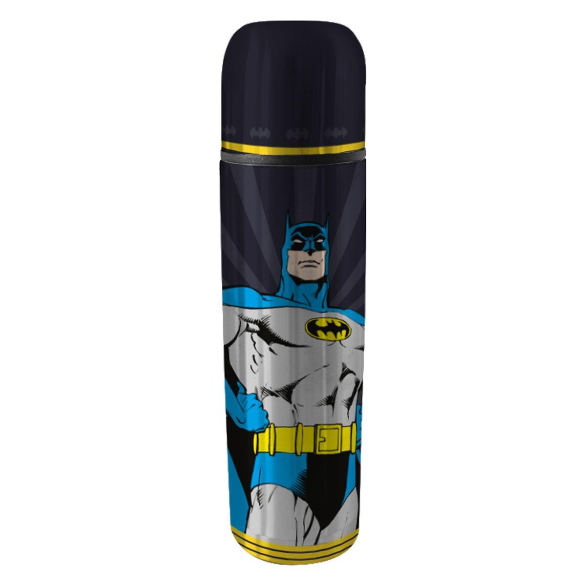 Garrafa Térmica Aço Inox Batman Preta - DC Comics