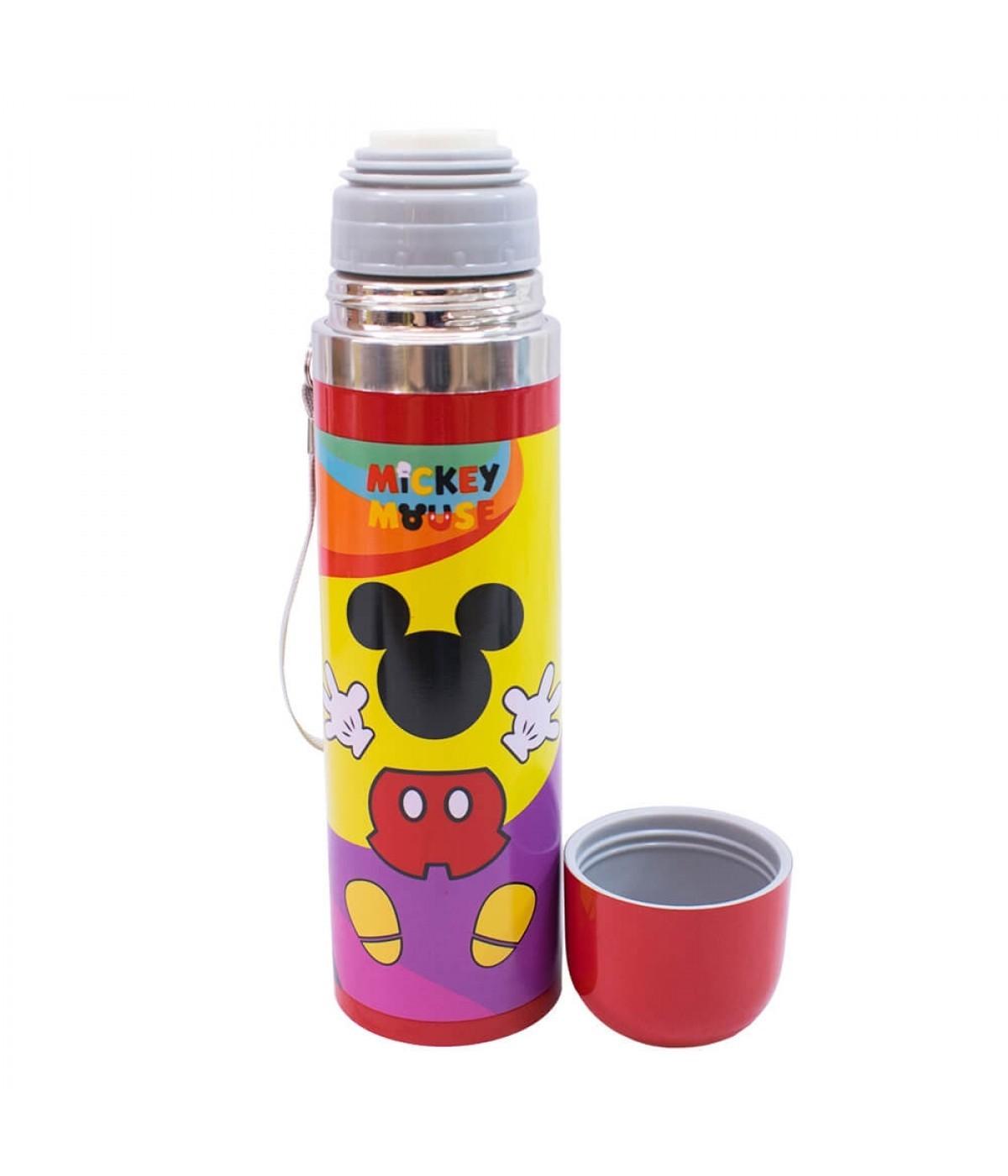 Garrafa Térmica Aço Inox Mickey Mouse 90 anos colorida  (500ml) - Disney