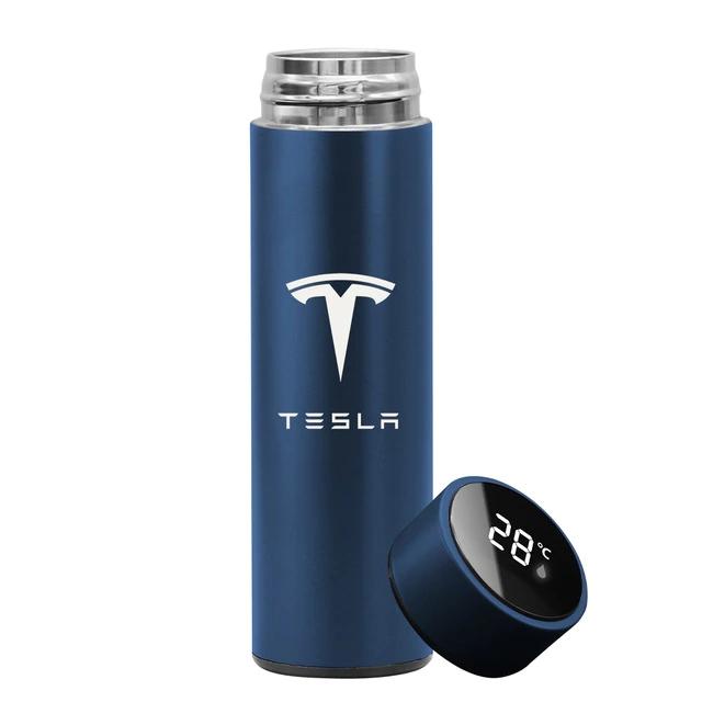 Garrafa Térmica Inteligente Display Temperatura Aço Inoxidável Tesla 500ml Azul - EV