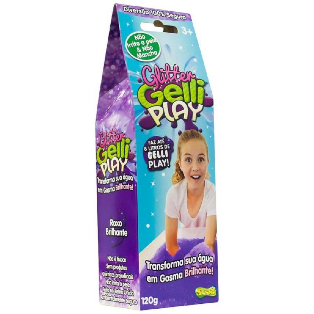 Gelli Play (Glitter): Roxo Brilhante - Sunny