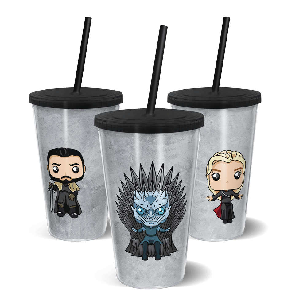 Copo Canudo Gira Copo Game of Thrones - 500ML