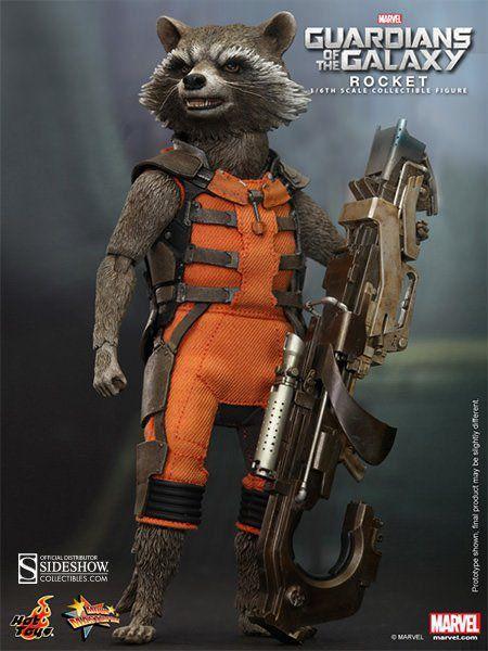 Action Figure Rocket Raccoon: Guardiões da Galáxia (Guardians of the Galaxy) Escala 1/6 (MMS252) - Hot Toys