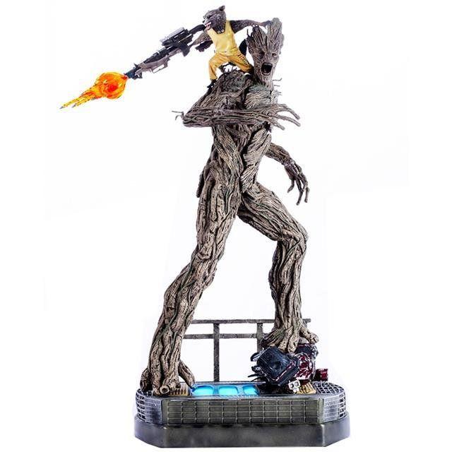 Estátua Rocket & Groot: Guardiões da Galáxia Diorama Escala 1/6 - Iron Studios - CD