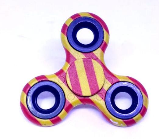 Hand Spinner Camuflado Amarelo e Vermelho - Rolamento Anti Estresse Fidget Hand Spinner