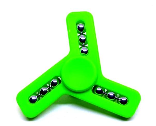 Hand Spinner com Bolinhas de 3 pontas Verde - Rolamento Anti Estresse Fidget Hand Spinner