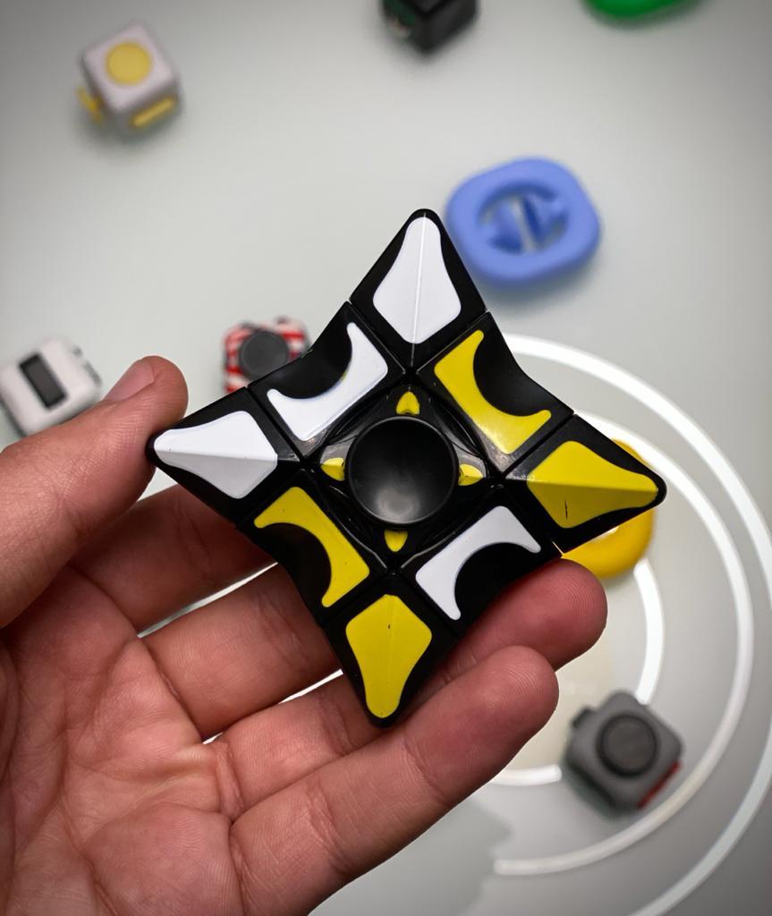 Hand Spinner Cubo Mágico Estrela Elite Prime - Rolamento Anti Estresse Fidget Hand Spinner