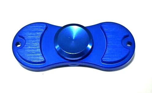 Hand Spinner de Metal Azul 2 pontos - Rolamento Anti Estresse Fidget Hand Spinner
