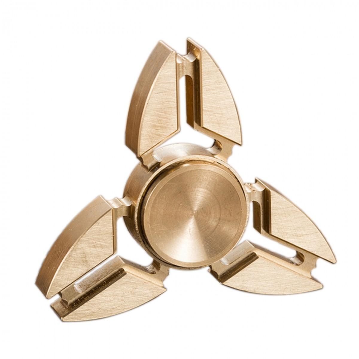 Hand Spinner de Metal Bronze - Rolamento Anti Estresse Fidget Hand Spinner