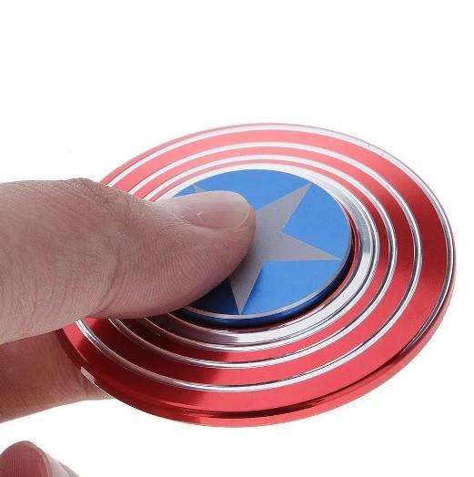 Hand Spinner de Metal Escudo América - Rolamento Anti Estresse Fidget Hand Spinner