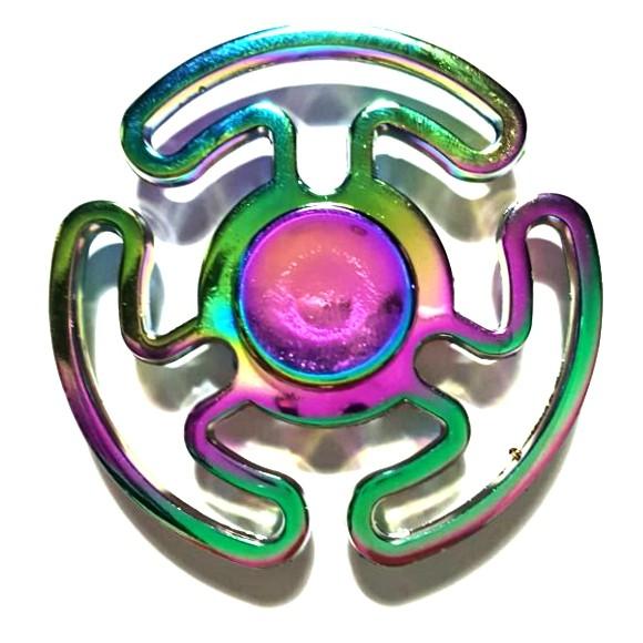 Hand Spinner de Metal Colorido Labirinto - Rolamento Anti Estresse Fidget Hand Spinner