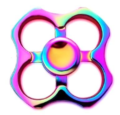 Hand Spinner de Metal Colorido Vazado - Rolamento Anti Estresse Fidget Hand Spinner