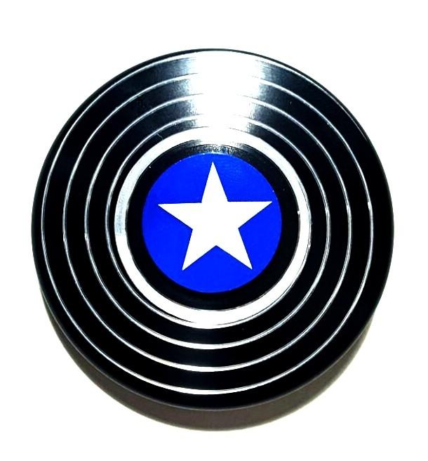 hand spinner de metal escudo am rica preto rolamento anti estresse fidget hand spinner toyshow. Black Bedroom Furniture Sets. Home Design Ideas