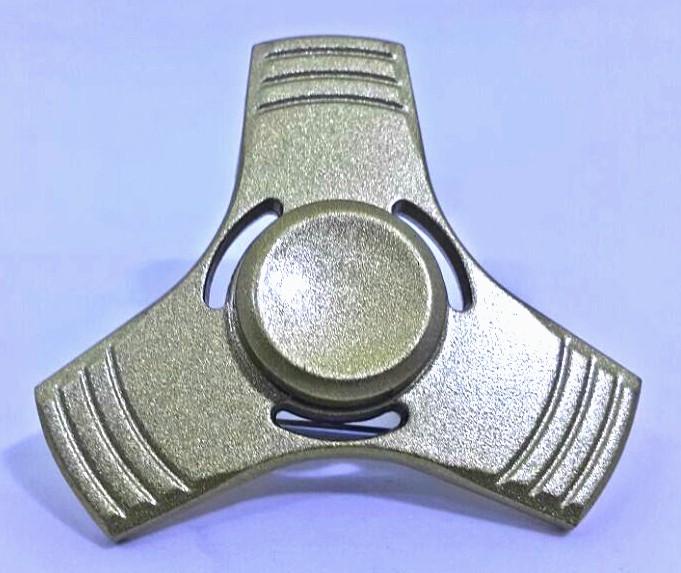 Hand Spinner de Metal Liso Dourado com furo - Rolamento Anti Estresse Fidget Hand Spinner