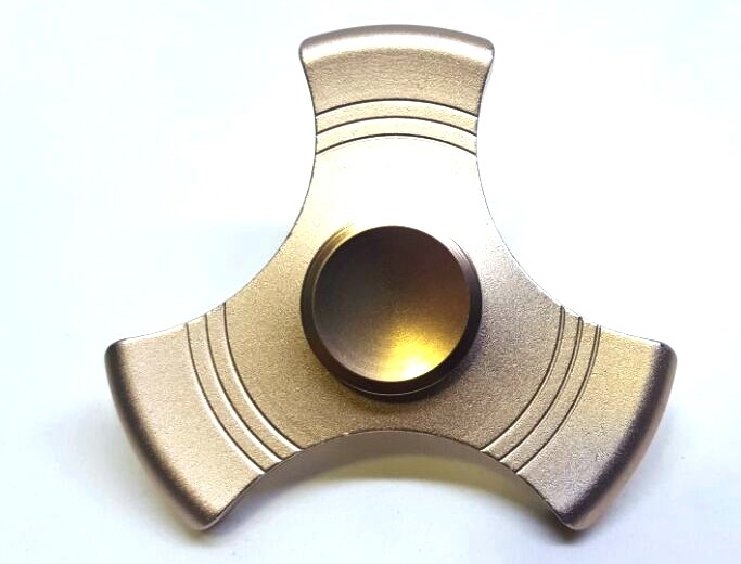 Hand Spinner de Metal Liso Dourado - Rolamento Anti Estresse Fidget Hand Spinner