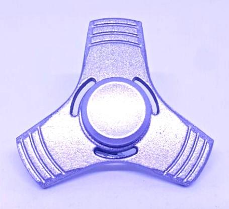 Hand Spinner de Metal Liso Prata com furo - Rolamento Anti Estresse Fidget Hand Spinner