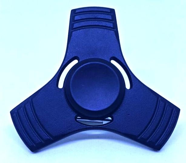 Hand Spinner de Metal Liso Preto com furo - Rolamento Anti Estresse Fidget Hand Spinner