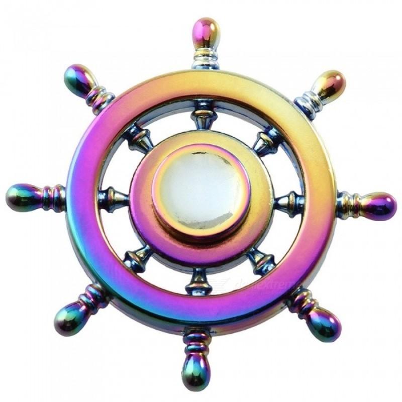 Hand Spinner de Metal Roda de Leme Colorido - Rolamento Anti Estresse Fidget Hand Spinner