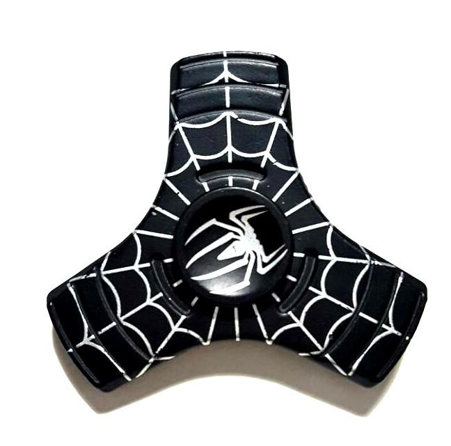 Hand Spinner Metal Aranha Preto 3 pontos - Rolamento Anti Estresse Fidget Hand Spinner