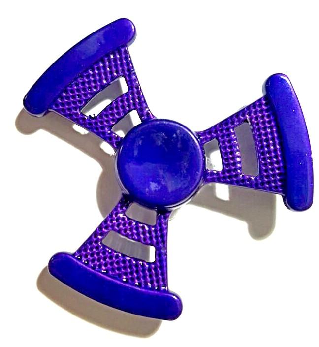 Hand Spinner Metal Roxo - Rolamento Anti Estresse Fidget Hand Spinner