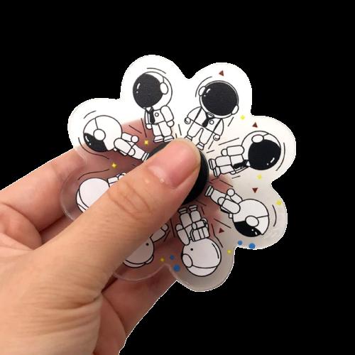 Hand Spinner Motion Astronauta: Nasa - Rolamento Anti Estresse Fidget Hand Spinner - EVALI