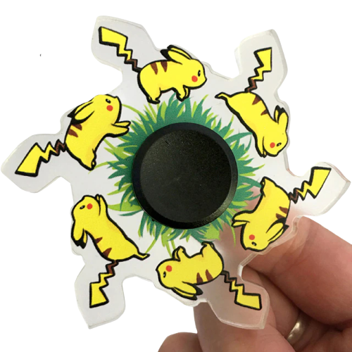 Hand Spinner Motion Pikachu: Pokémon - Rolamento Anti Estresse Fidget Hand Spinner - EVALI