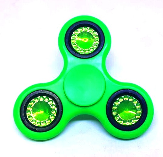 Hand Spinner Sortido com detalhe brilhante - Rolamento Anti Estresse Fidget Hand Spinner
