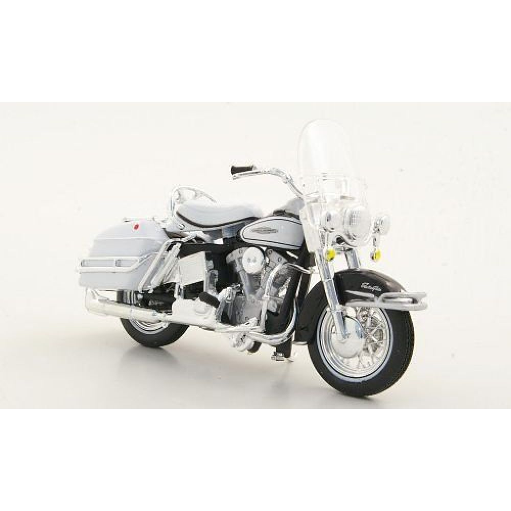 Harley Davidson Electra Glide 1966 FLH Branco Série 29 1:18 - Maisto