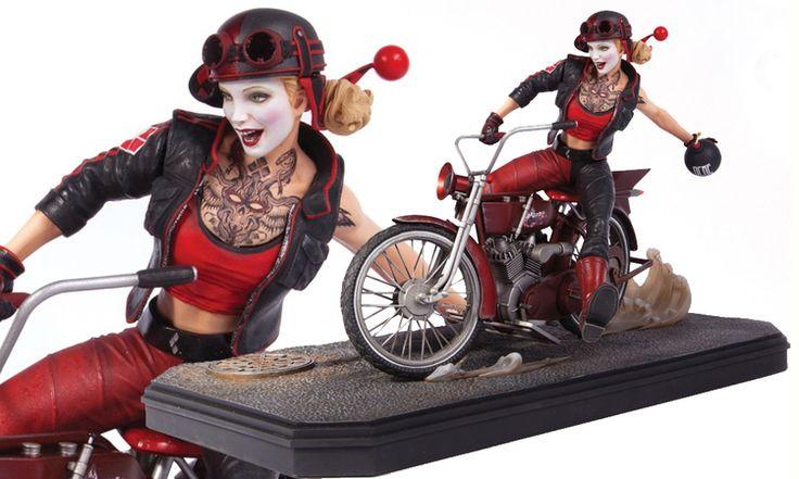 Harley Quinn Gotham City Garage Estátua - DC Collectibles (Produto Exposto)