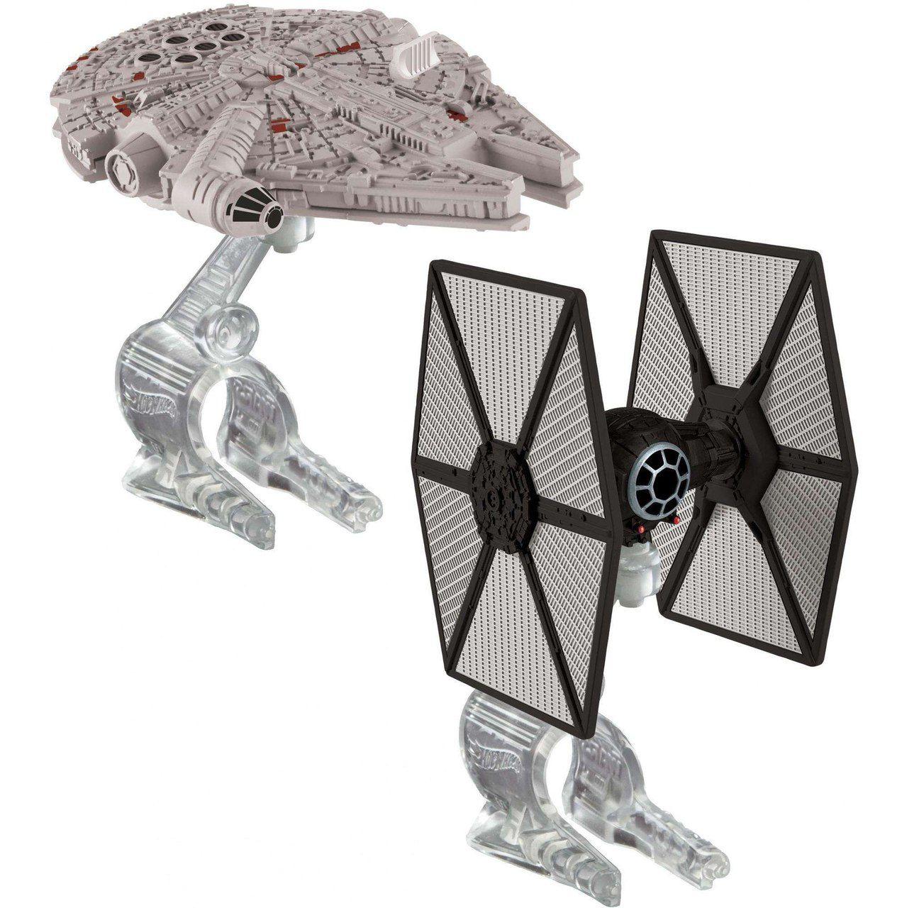 Hot Wheels First Order Tie Fighter vs. Millennium Falcon: Star Wars - Mattel