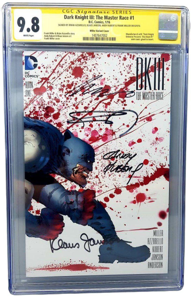 HQ Dark Knight III (The Master Race) #1 Miller Variant Cover: Frank Miller/Andy Kubert/Klaus Janson/Brian Azzarello (Certificada CGC 9.8 Signature Series) (Quadrinhos/Gibi)