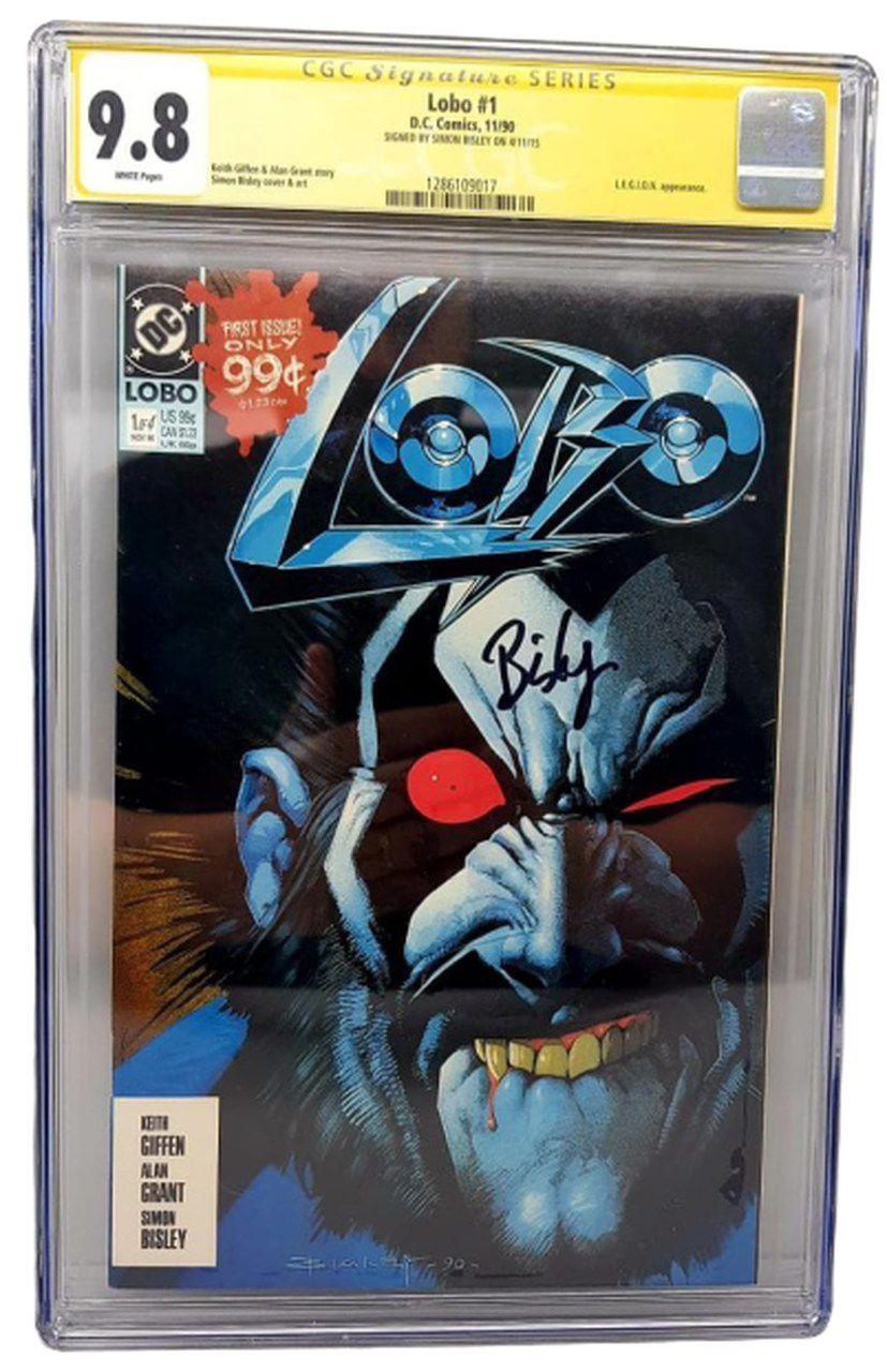 HQ Lobo #01(1990): Simon Bisley (Certificada CGC 9.8 Signature Series) (Quadrinhos/Gibi)