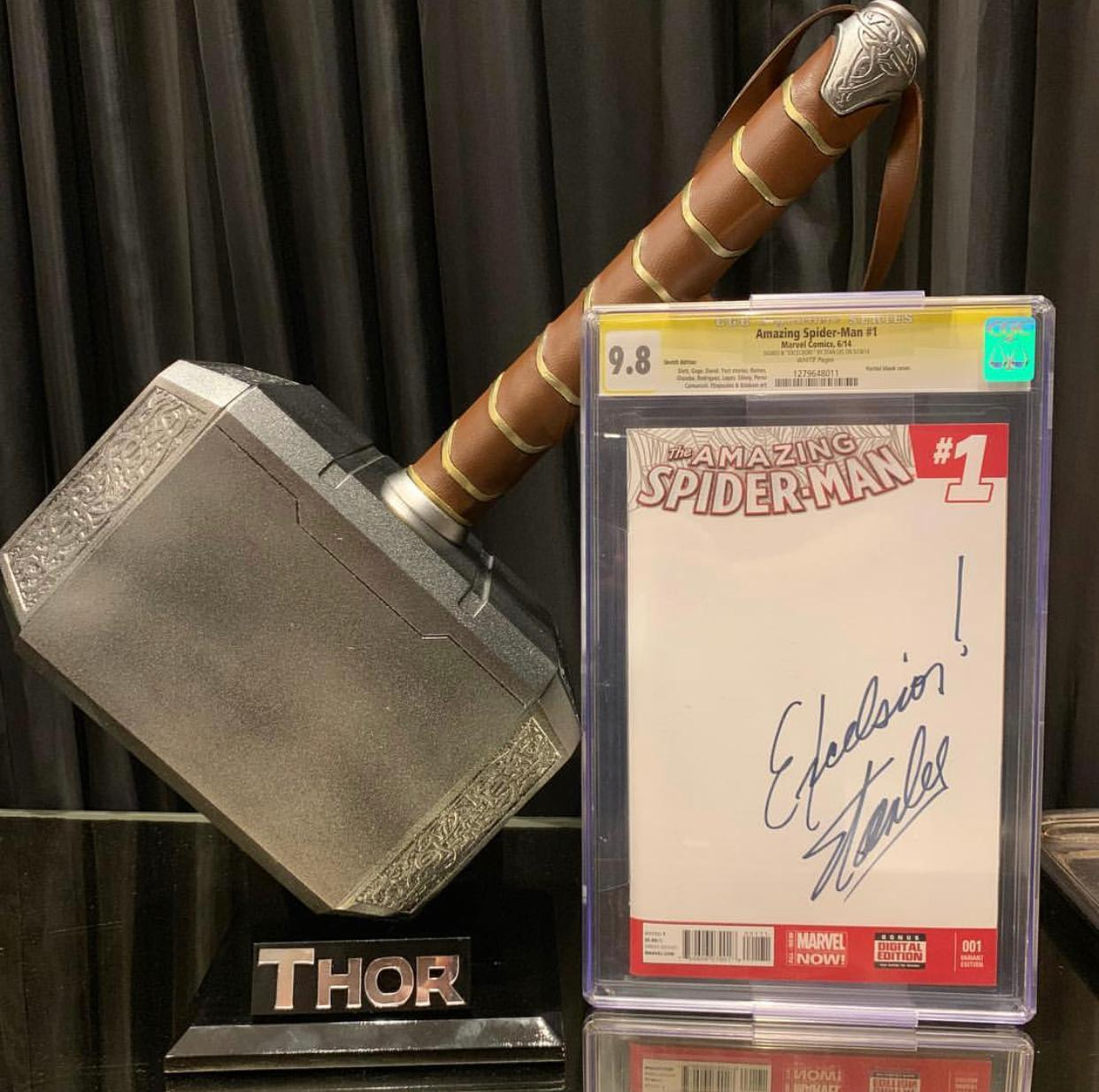 HQ The Amazing Spider-Man #1 (Marvel Now): Stan Lee Excelsior (Certificada CGC 9.8 Signature Series) (Quadrinhos/Gibi)