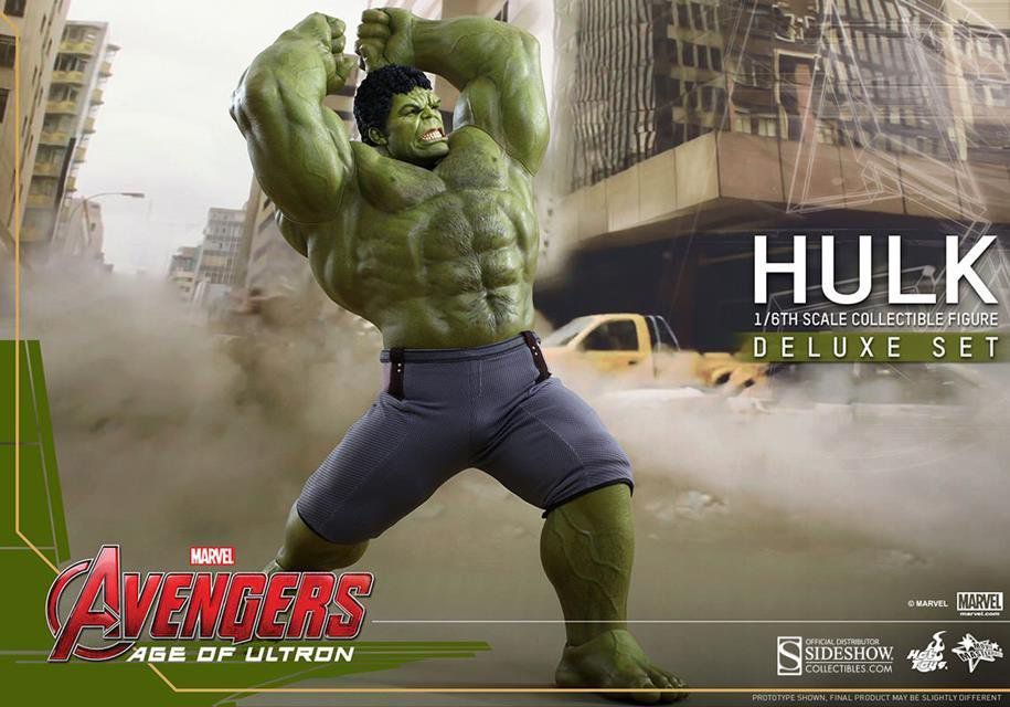 Boneco Hulk: Vingadores Era de Ultron (Age of Ultron) Deluxe Set (Escala 1/6) (MMS287) - Hot Toys - CG