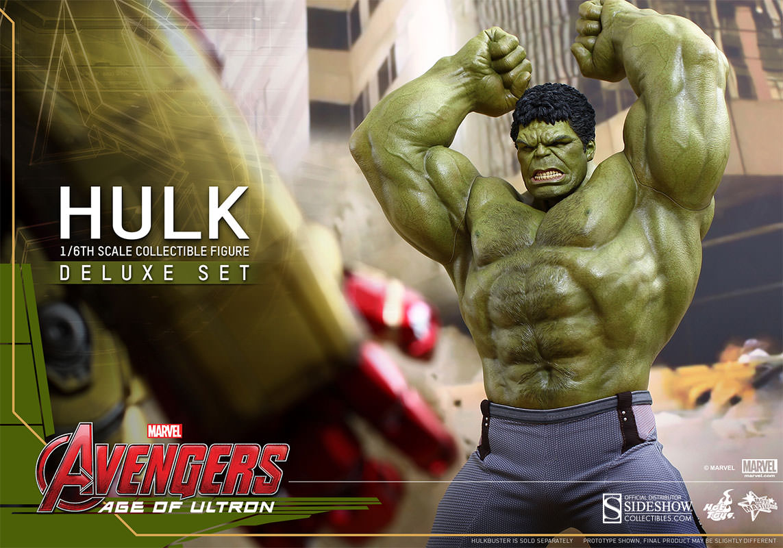 Hulk Age of Ultron Movie Masterpiece Deluxe Set Escala 1/6 - Hot Toys