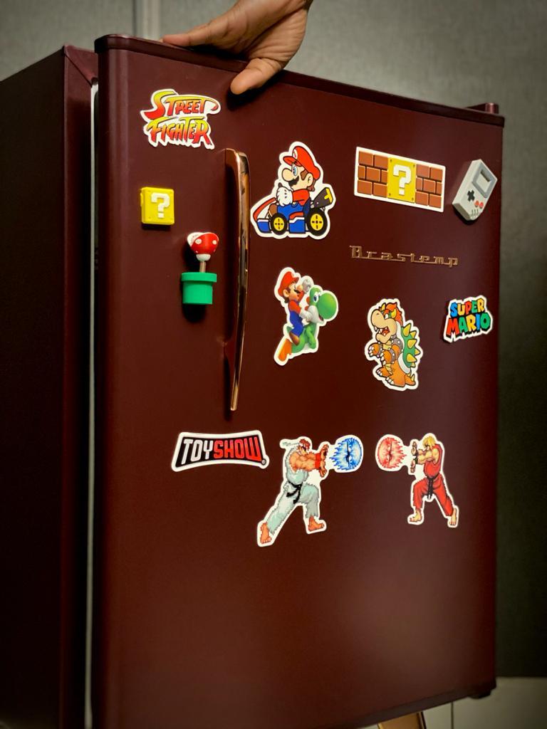 Imã De Geladeira Mario Kart: Mario Bros. - EV