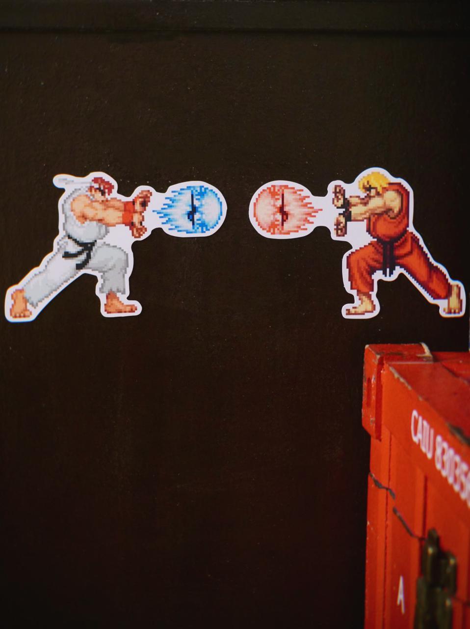 Imã De Geladeira Pack Ryu e Ken: Street Fighter - EV