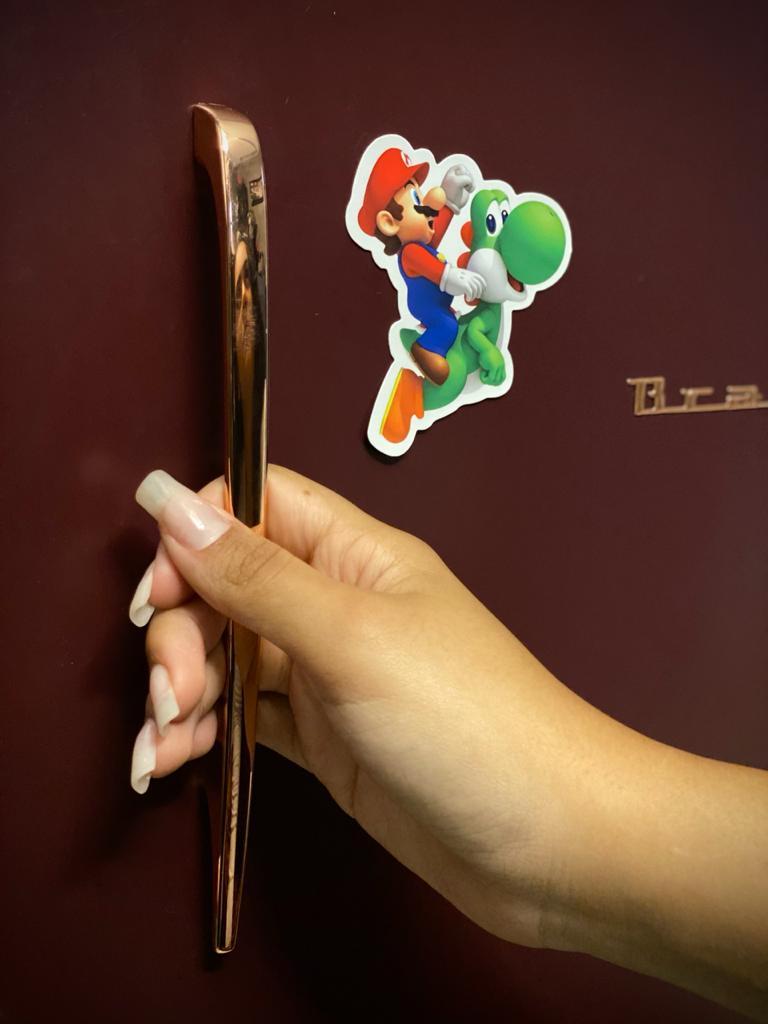 Imã De Geladeira Yoshi: Super Mario Bros. - EV