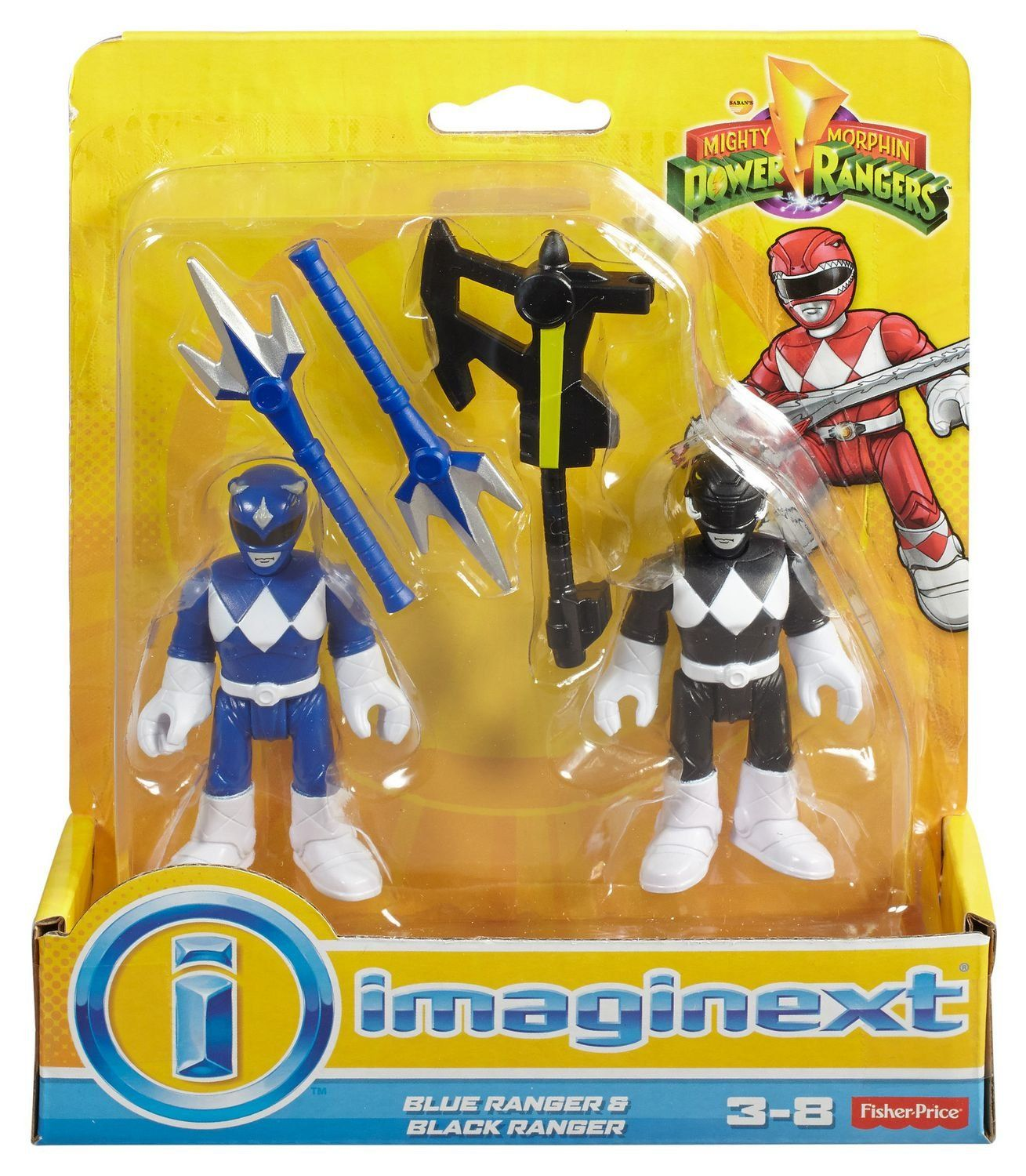 Imaginext® Ranger Azul e Ranger Preto: Power Rangers - Fisher-Price