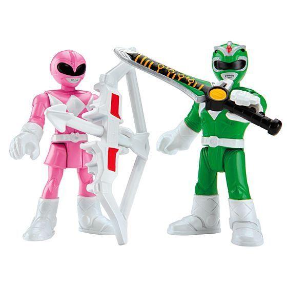 Imaginext® Ranger Verde e Ranger Rosa: Power Rangers - Fisher-Price