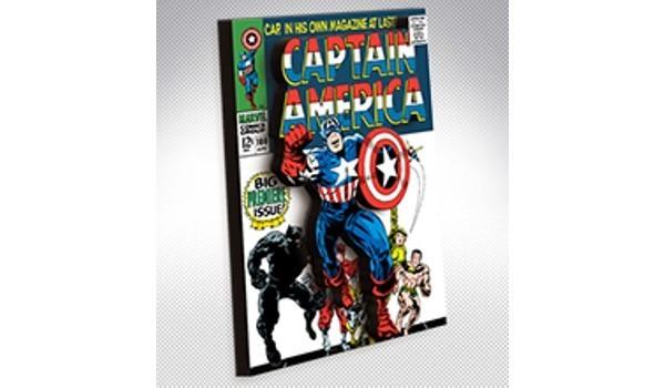Imãs Marvel: Quadrinho Capitão América - Imãs do Brasil