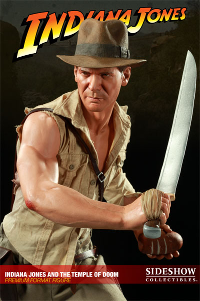 Indiana Jones The Temple of Doom Premium Format Escala 1/4 - Sideshow (Produto Exposto)