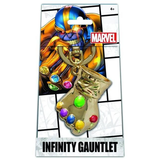 Chaveiro Manopla do Infinito (Infinity Gauntlet): Thanos Exclusive Gold Pewter Version - Monogram