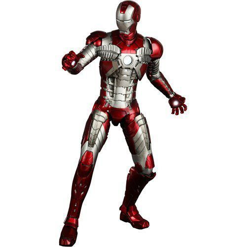 Action Figure Homem de Ferro (Iron Man) Mark V: Homem de Ferro 2 (Iron Man 2) Escala 1/6 (MMS145) - Hot Toys